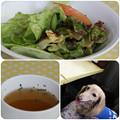 写真: サラダ&スープ