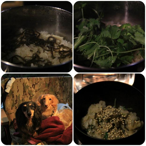 塩昆布と三つ葉の炊き込みご飯