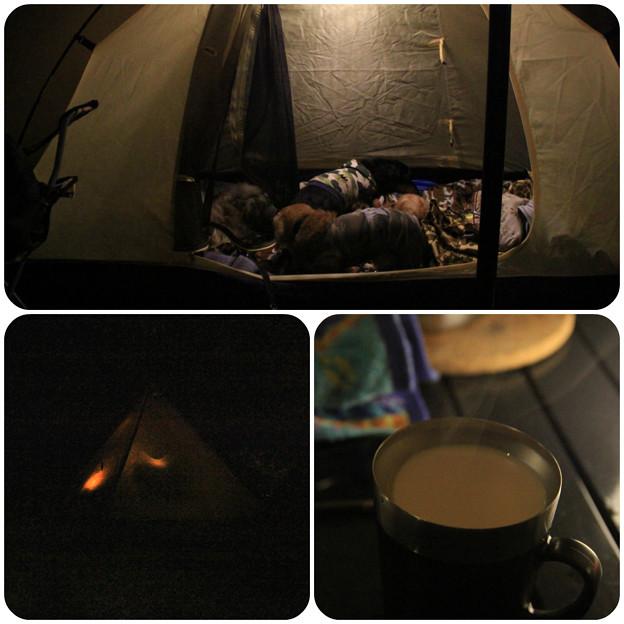 テントでのんびり