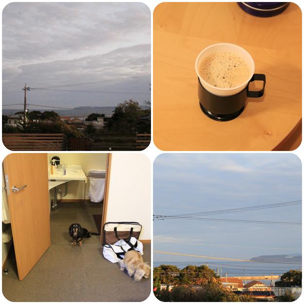 海を眺めながらコーヒー
