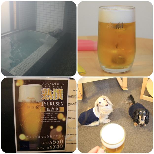 お風呂上りのビール