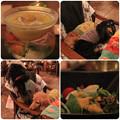 Photos: とうもろこしの冷たいスープ_野菜サラダ