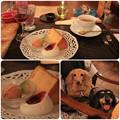 Photos: オレンジのシフォンケーキ_すもものシャーベット_紅茶