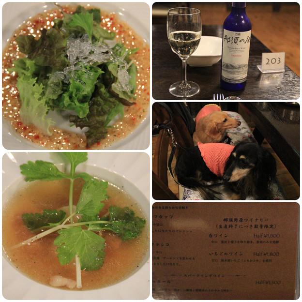 サラダ_スープ_ワイン