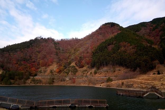 ダム湖の秋