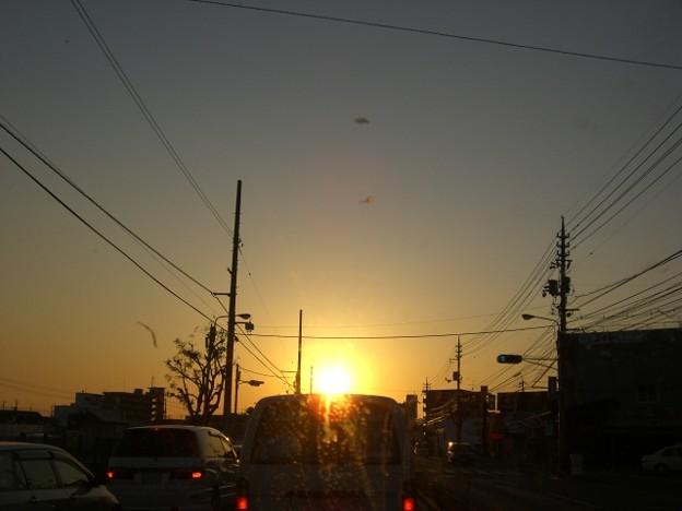 Photos: 日暮れの夕景の景色