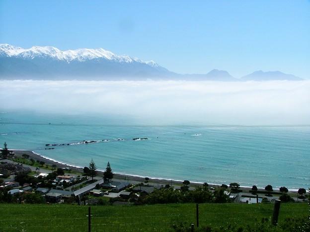 雲海と海岸