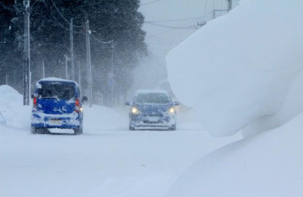 雪の吹き溜り