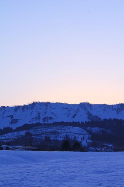 雪山の夕焼け