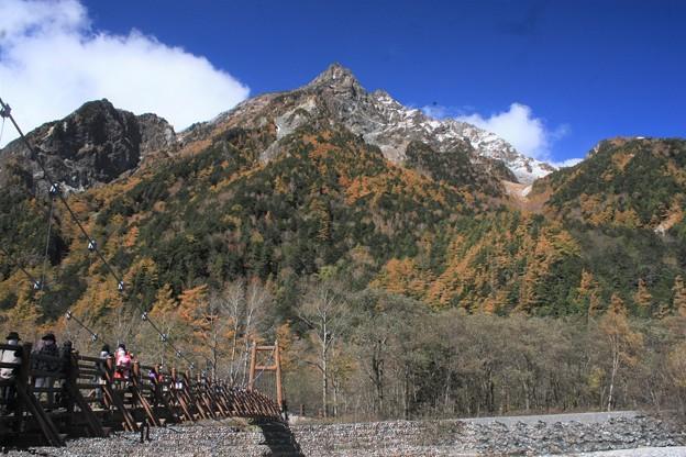 日本国 長野県 松本市 上高地 明神橋付近から見た明神岳