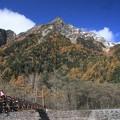 Photos: 日本国 長野県 松本市 上高地 明神橋付近から見た明神岳