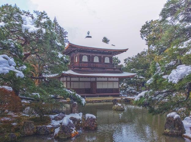 慈照寺銀閣雪景