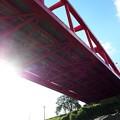 写真: 赤い橋