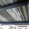 Photos: 折板カーポート破損