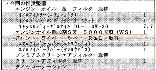 プラド12ヶ月点検にSX5000?