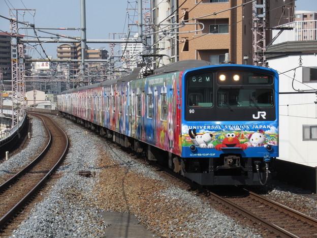 大阪環状線201系 LB6編成【ユニバーサルワンダーランド】