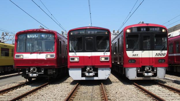 京急2011F・1517F・1801F 3並び