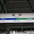 盛岡駅 駅名標【東北線・いわて銀河鉄道線】