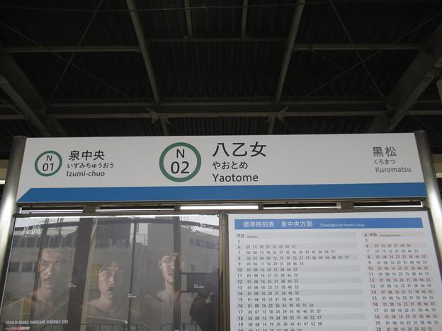 #N02 八乙女駅 駅名標【上り】