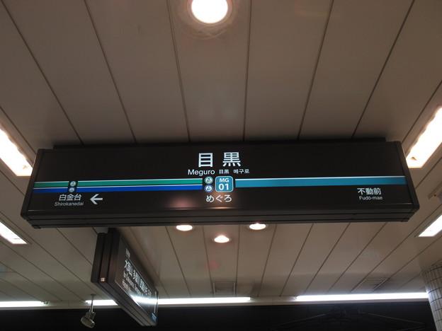 #MG01 目黒駅 駅名標【南北線・都営三田線】