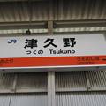Photos: 津久野駅 駅名標【上り】