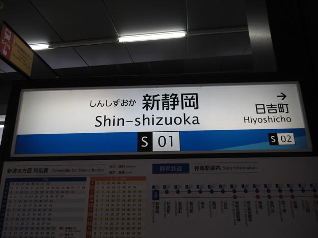 #S01 新静岡駅 駅名標