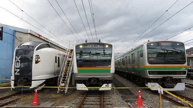 E259系・E233系3000番台・E231系1000番台 3並び