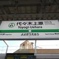 Photos: #C01 代々木上原駅 駅名標【千代田線 終点】
