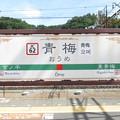 Photos: #JC62 青梅駅 駅名標