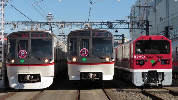 Photos: 都営5315F・都営5314F・都営E5001 3並び