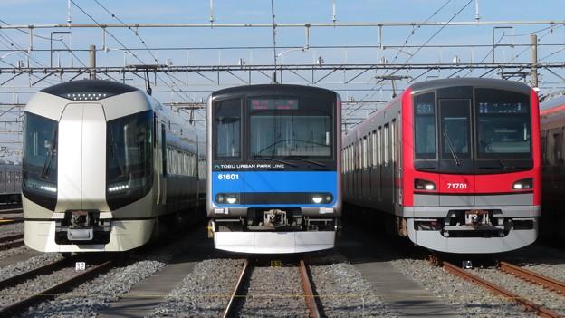 東武506F・61601F・71701F 3並び