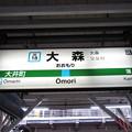 Photos: #JK18 大森駅 駅名標【北行】