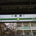 Photos: #JN23 谷保駅 駅名標【上り】