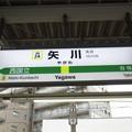 Photos: #JN24 矢川駅 駅名標【下り】