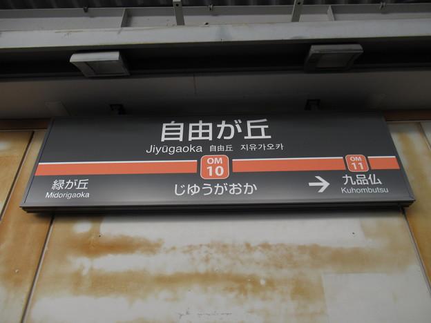 #OM10 自由が丘駅 駅名標【大井町線 下り】