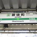 #JY04 御徒町駅 駅名標【山手線 外回り】