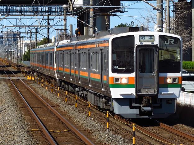 東海道線211系6000番台 GG4+T4編成