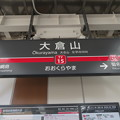 #TY15 大倉山駅 駅名標【下り】