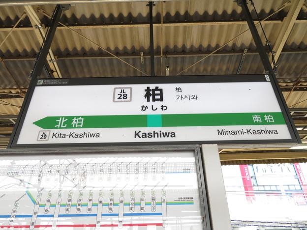 #JL28 柏駅 駅名標【常磐緩行線 下り】