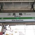 #JL29 北柏駅 駅名標【上り】