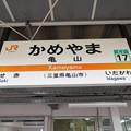 Photos: #CJ17 亀山駅 駅名標【関西線 1】