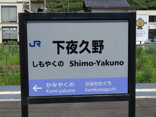 Photos: 下夜久野駅 駅名標【下り】