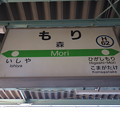 Photos: #H62 森駅 駅名標【1】