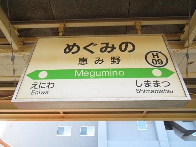 #H09 恵み野駅 駅名標【下り 1】