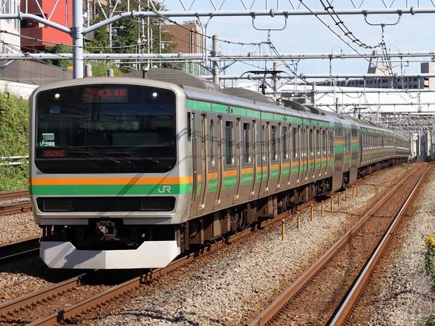 東海道線E231系1000番台 U-591編成他15両編成