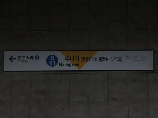 #B31 中川駅 駅名標【下り 2】