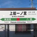 上総一ノ宮駅 駅名標