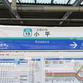 #SS19 小平駅 駅名標【新宿線 下り】