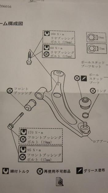 Photos: ロアアーム図