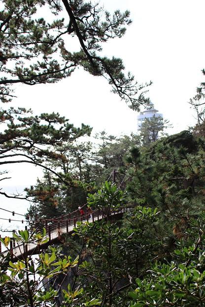 門脇吊橋と灯台